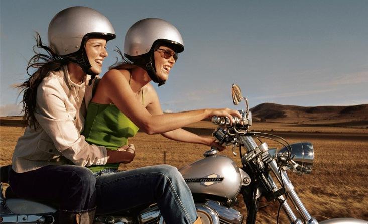 Фотографии девушек и парней на мотоцикле