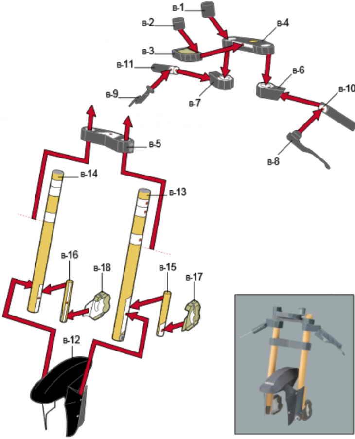 Как из бумаги сделать мотоцикл схема 4