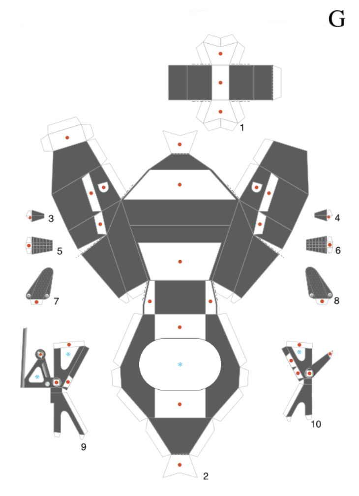 Как сделать из бумажных деталей 394