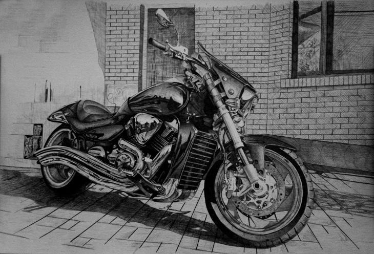 Рисунки на мотоциклах