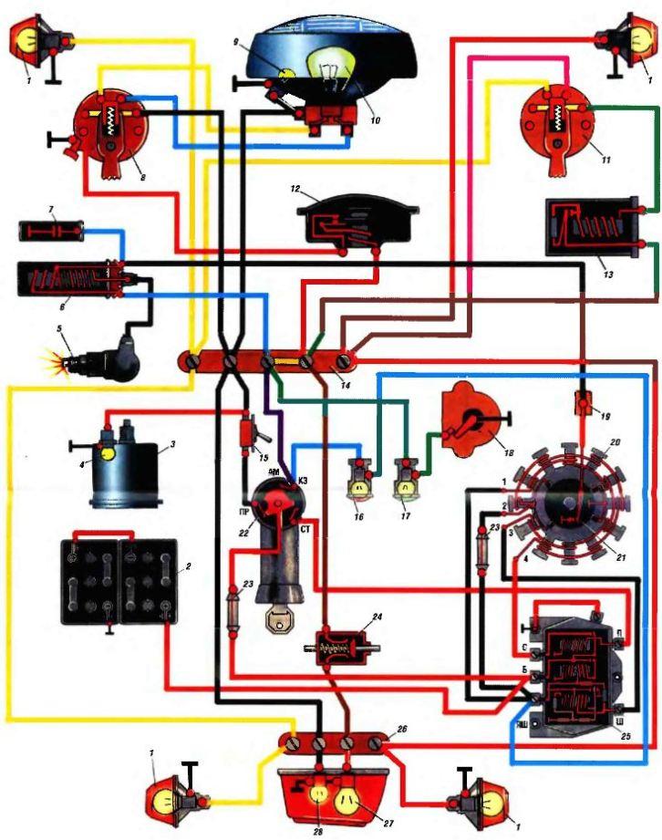 Схема электрооборудования Муравей мотороллера