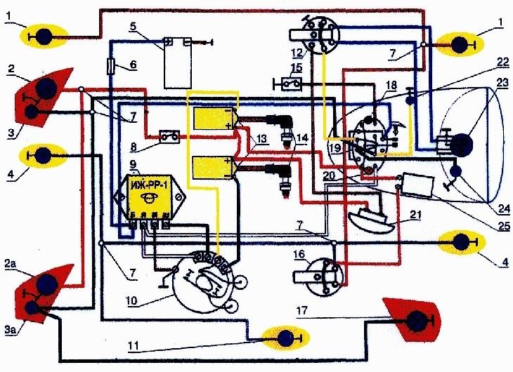 Схема электро проводки Иж Планета 3