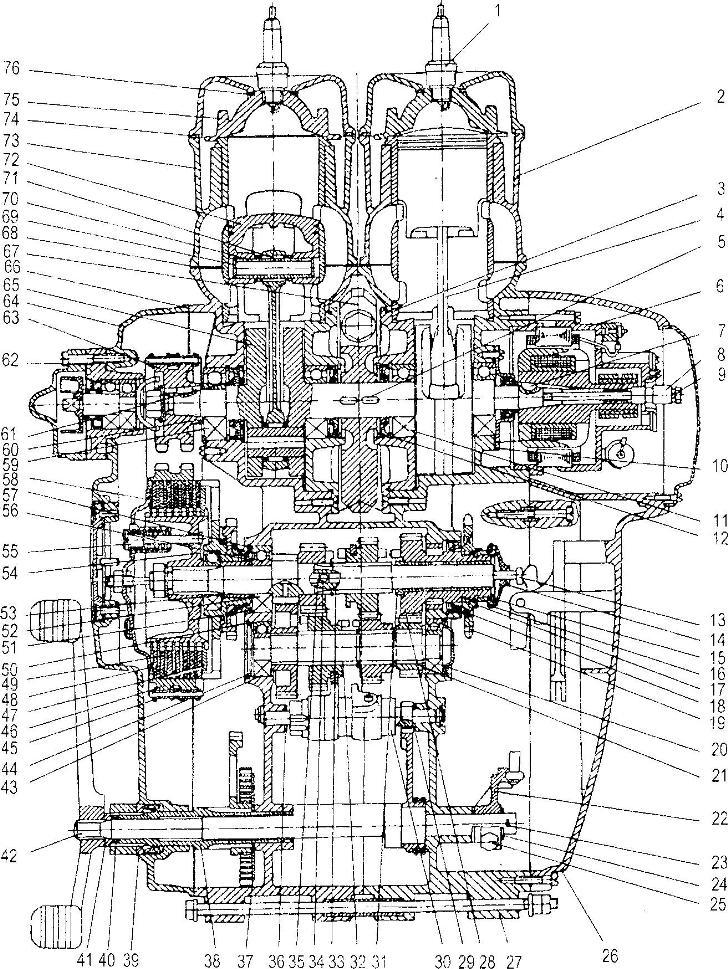 Разъяснения к схеме двигателя
