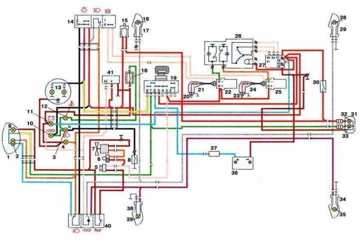Схема мотоцикла иж-ю5