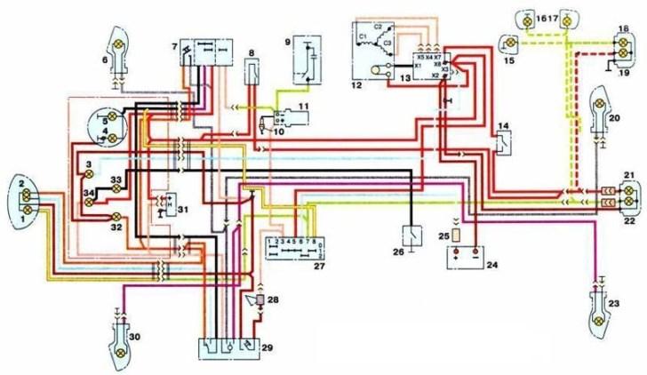 к схеме электропроводки ИЖ
