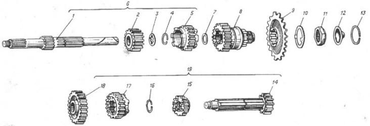 Схема двигателя мотоцикла Иж