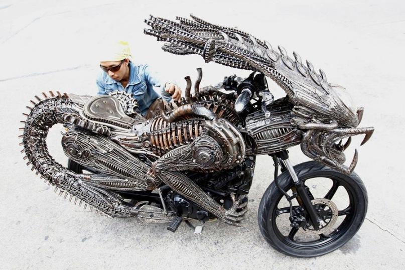 Как сделать мотоцикл из людей 300