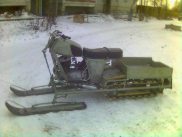 Как снегоход сделать из мотоцикла урал