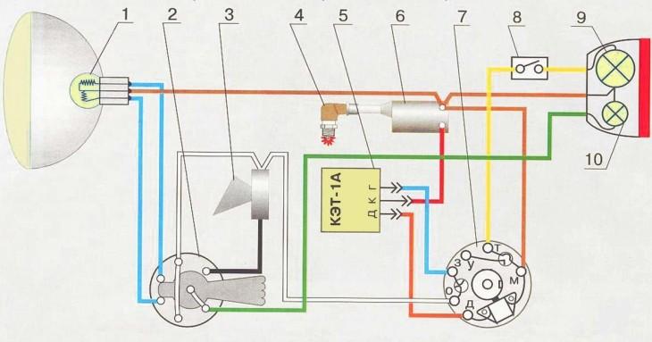 Электросхема мотоцикла минск 12 вольт